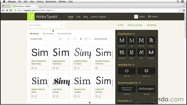 Who is Typekit for?: Up and Running with Typekit