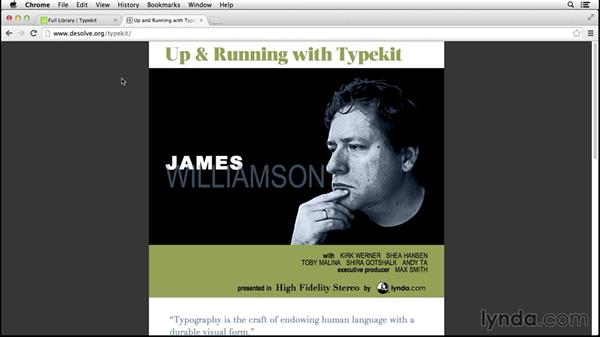 Customizing selectors: Up and Running with Typekit