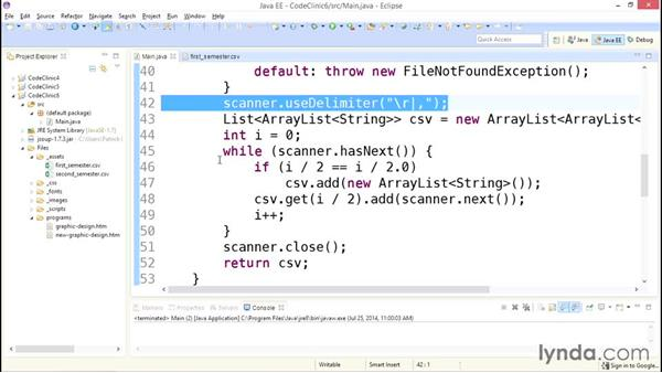 My solution:  Reading CSV files: Code Clinic: Java