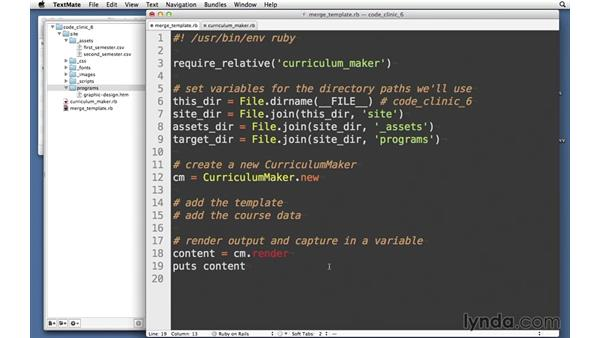 CurriculumMaker: Code Clinic: Ruby