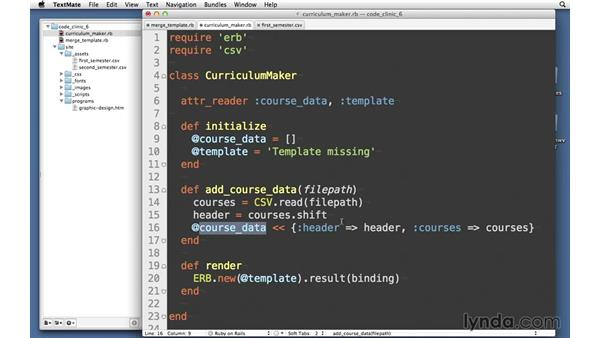Parsing course data: Code Clinic: Ruby