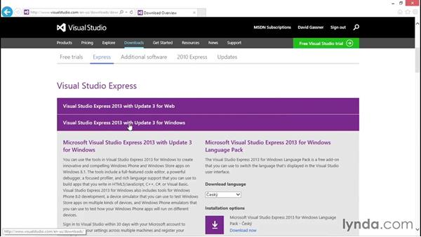 Installing Visual Studio: C# Essential Training