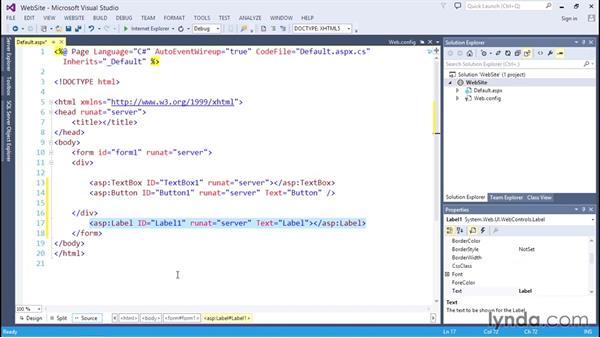 Creating a simple web application: C# Essential Training