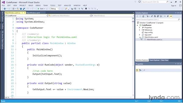 Reviewing the CodeRunner app: C# Essential Training