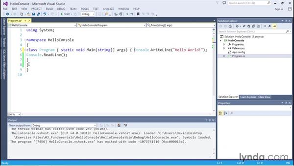 Understanding C# syntax: C# Essential Training