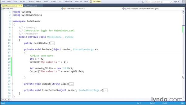 Declaring variables: C# Essential Training