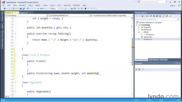 Extending a class to create a new class: C# Essential Training