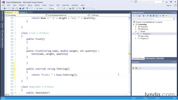 Overriding and calling base class methods: C# Essential Training
