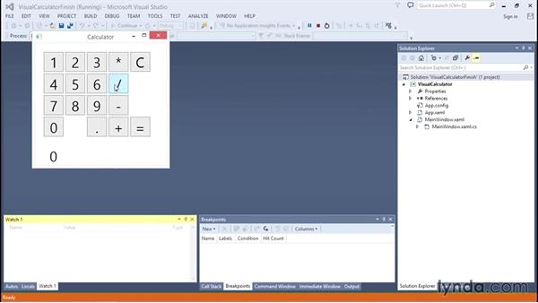 Challenge: Creating a visual calculator in Windows Presentation Foundation (WPF): C# Essential Training
