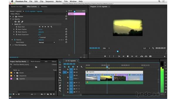 Creating vignettes in Premiere Pro: Video Post Tips Weekly