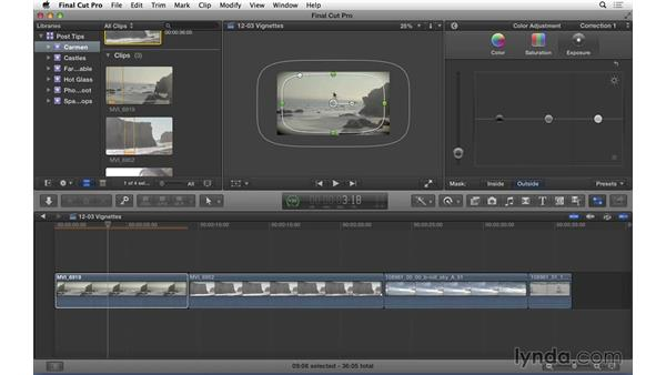 Creating vignettes in Final Cut Pro X: Video Post Tips Weekly