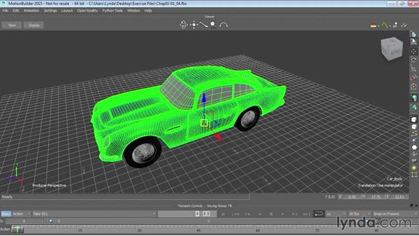 Transforming objects: Up and Running with MotionBuilder