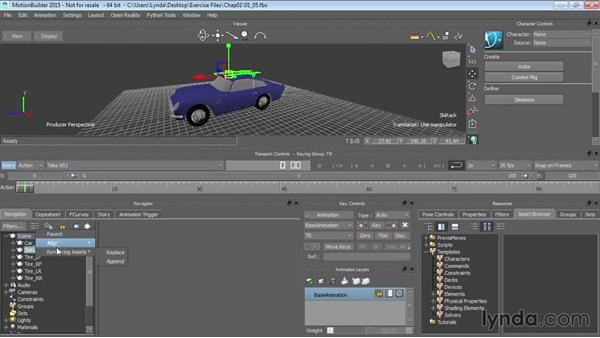 Creating hierarchies: Up and Running with MotionBuilder
