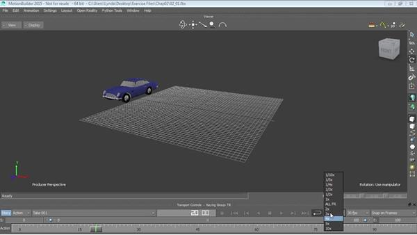 Working with the Transport Controls: Up and Running with MotionBuilder