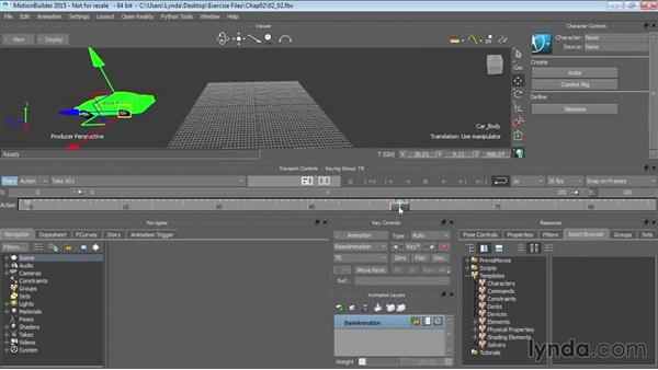 Animating objects with keys: Up and Running with MotionBuilder