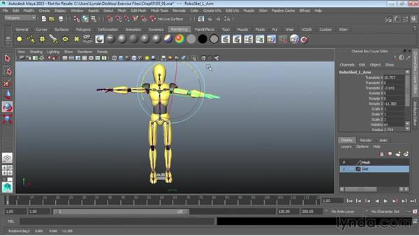 Preparing characters for MotionBuilder: Up and Running with MotionBuilder