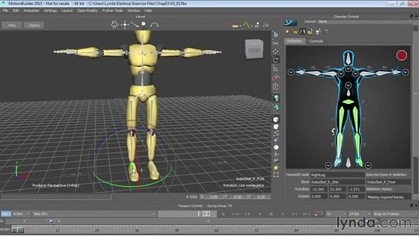 Characterizing generic rigs: Up and Running with MotionBuilder
