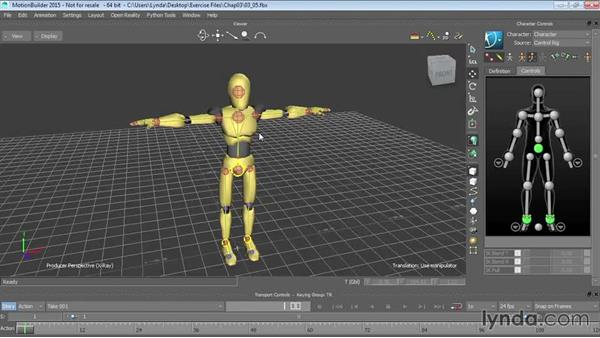 Creating control rigs: Up and Running with MotionBuilder