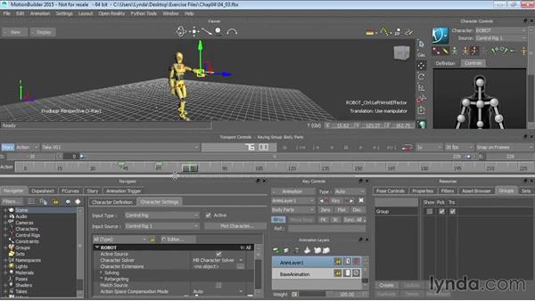 Working with animation layers: Up and Running with MotionBuilder