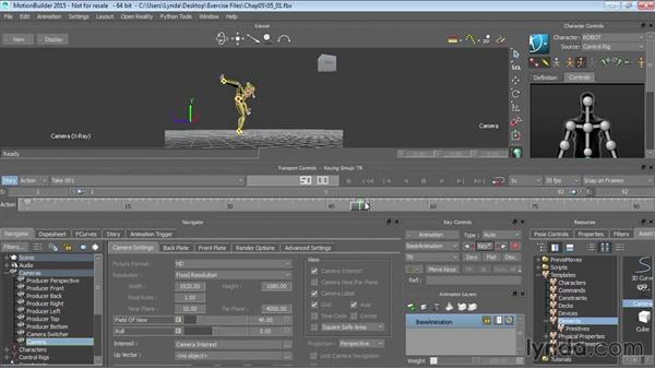 Adding lights and cameras: Up and Running with MotionBuilder