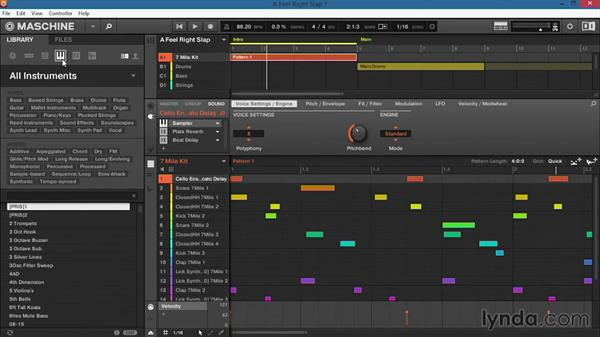 Loading projects, kits, sounds, instruments, and samples from the software browser: Up and Running with Maschine 2