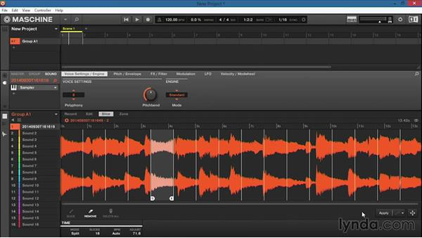 Slicing samples: Up and Running with Maschine 2