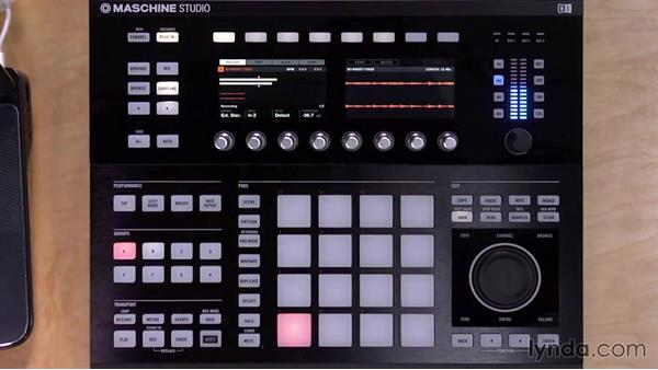 Recording external audio using the hardware controller: Up and Running with Maschine 2