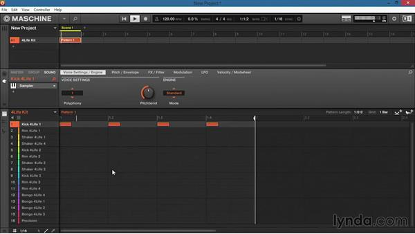 Entering notes manually within the software: Up and Running with Maschine 2