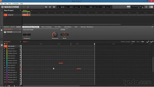 How to edit your notes manually in the software interface: Up and Running with Maschine 2