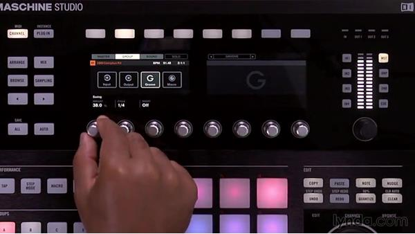 Adding swing to your patterns on Maschine Studio: Up and Running with Maschine 2