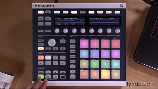 Adding swing to your patterns on the Maschine controller: Up and Running with Maschine 2