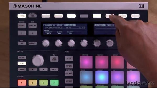 Accessing the mixer from the Maschine controller: Up and Running with Maschine 2