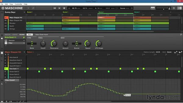 Drawing automation for effects and parameters: Up and Running with Maschine 2