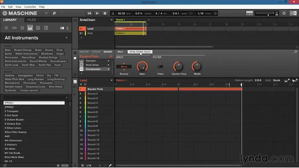 Setting up side-chain routing: Up and Running with Maschine 2