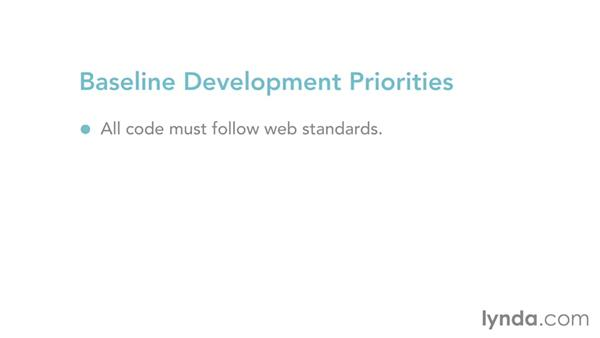 Baseline development priorities: Mapping the Modern Web Design Process