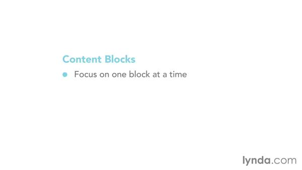 Using content blocks: Mapping the Modern Web Design Process