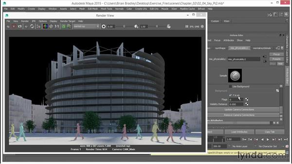 Controlling the mia physical sky: Part two: Up and Running with mental ray in Maya