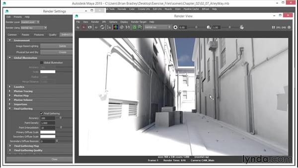 The IBL sky light: Up and Running with mental ray in Maya