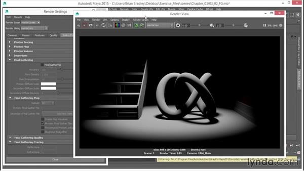 Understanding Final Gather: Up and Running with mental ray in Maya