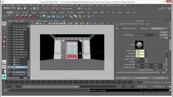 Using (GI) photons: Part two: Up and Running with mental ray in Maya