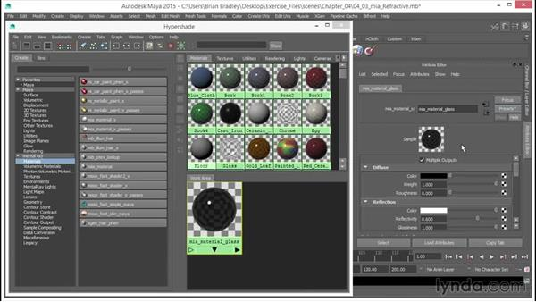 mia: Refractive (Glass): Up and Running with mental ray in Maya