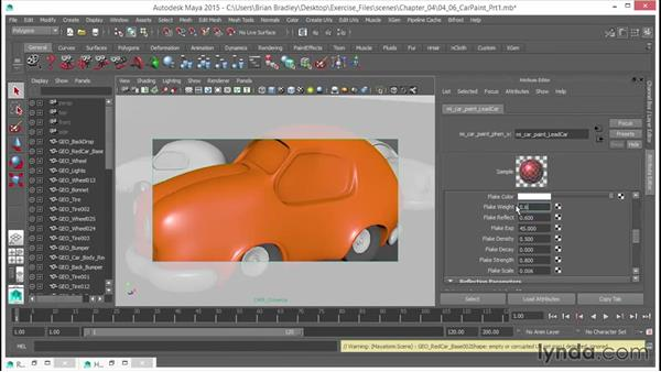 Getting to grips with the car paint phen: Part one: Up and Running with mental ray in Maya