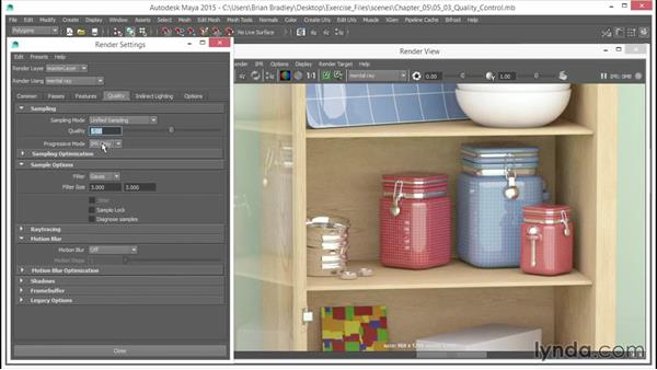 Unified Sampling controls: Part two: Up and Running with mental ray in Maya