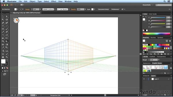 Adjusting vanishing points: Perspective Drawing with Illustrator
