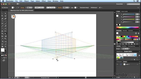 Adjusting grid planes: Perspective Drawing with Illustrator