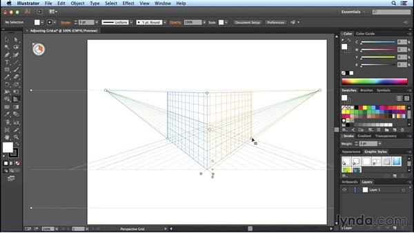 Adjusting the horizon, grid cells, and extent: Perspective Drawing with Illustrator