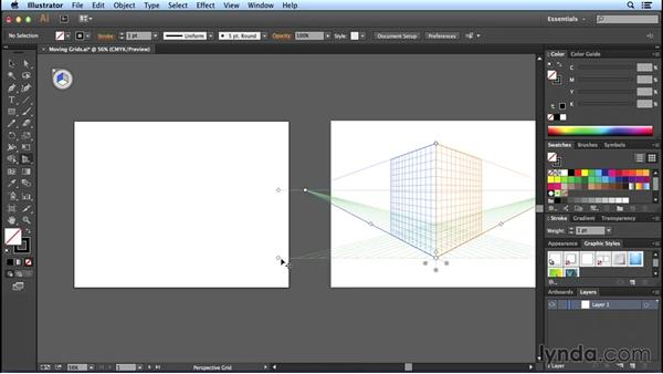Moving the Perspective Grid: Perspective Drawing with Illustrator