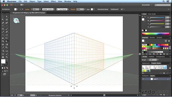The Plane Switching widget: Perspective Drawing with Illustrator
