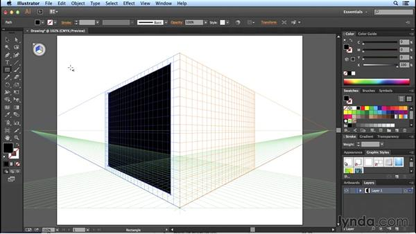 Drawing and selecting objects: Perspective Drawing with Illustrator