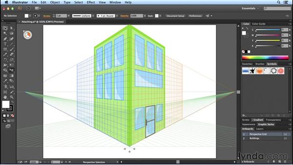 Releasing objects: Perspective Drawing with Illustrator